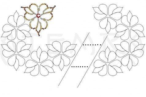 колье из бисера _схема соединения деталей
