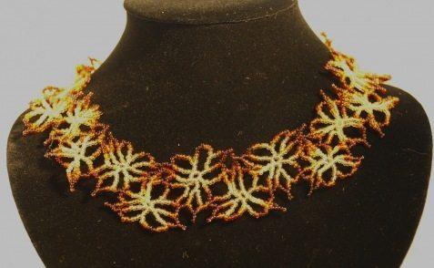 Схемы плетения изделий из бисера, статьи и мастер-классы, рукодельные техники, интервью с . Изображения ожерелье из...