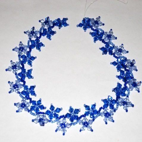 Ожерелье из бисера в стиле