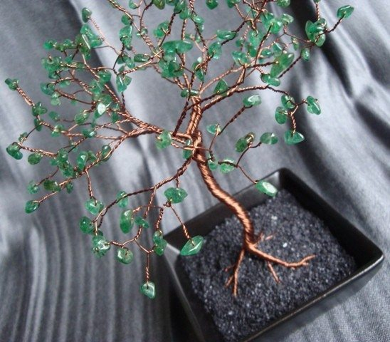 денежное дерево из бисера мастер класс с фото - Уроки рукоделия.