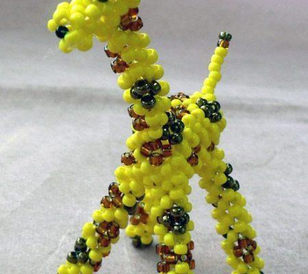 Жираф из бисера схема