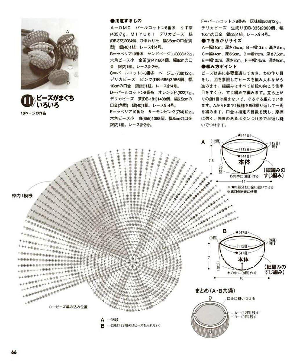 Кошельки из бисера - схема плетения