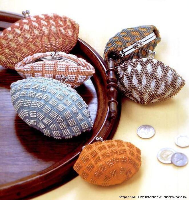 вязаные кошельки из бисера