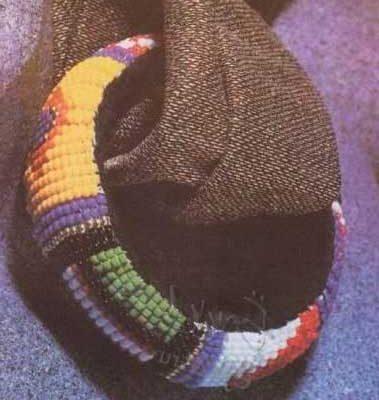 бисерный индейский браслет