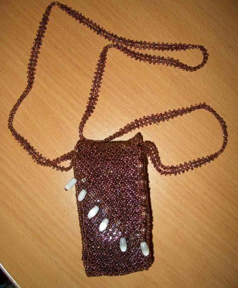 плетение бисером чехла для телефона.
