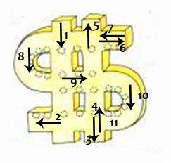 схема доллар из бисера