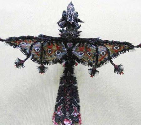 Объемный дракон из бисера