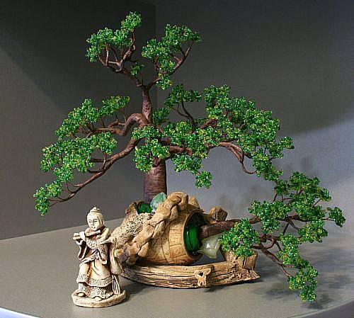 бисероплетение бонсая