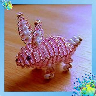 Кролик из бисера схема фото 872