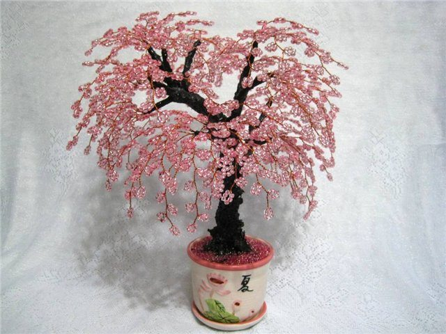 Бисероплетение деревья схемы сакура.