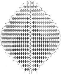 Схема плетения бутона розы из бисера-2