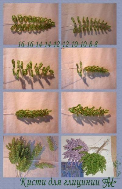 схема плетения глицинии