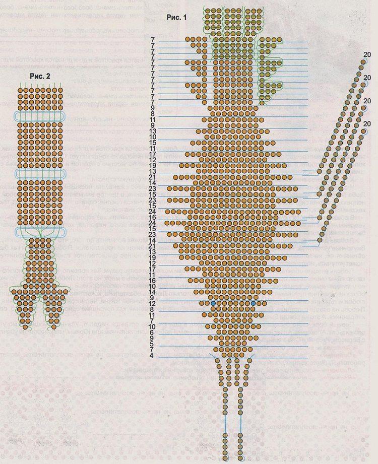 схемы объемного бисероплетения