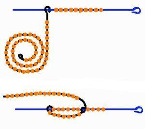 схема плетения из бисера фиалки