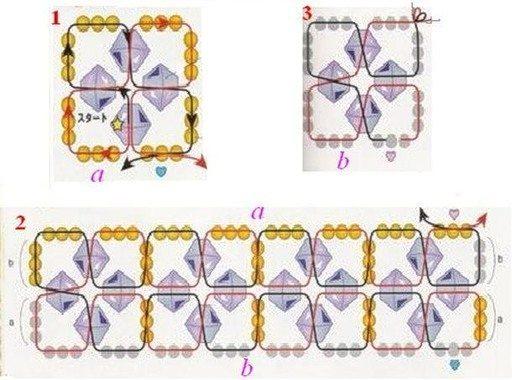 Кубик из бисера схема плетения фото 818