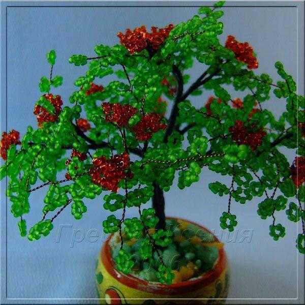 Деревья b из /b бисера b Плетение /b бисером.