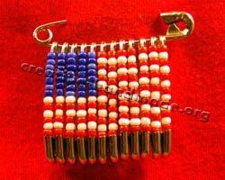 плетение флага из бисера
