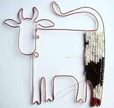 Схема плетения коровы из бисера