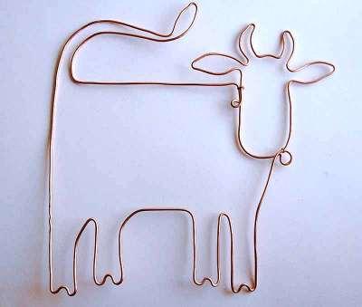 схема плетения коровы бисером