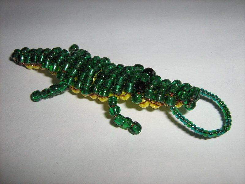 как сделать объемного крокодила из бисера - Сайт о бисере.