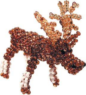 Лось из бисера - схема плетения
