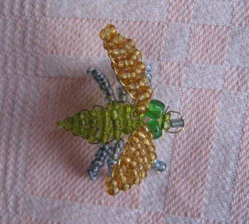 Схема из бисера мух