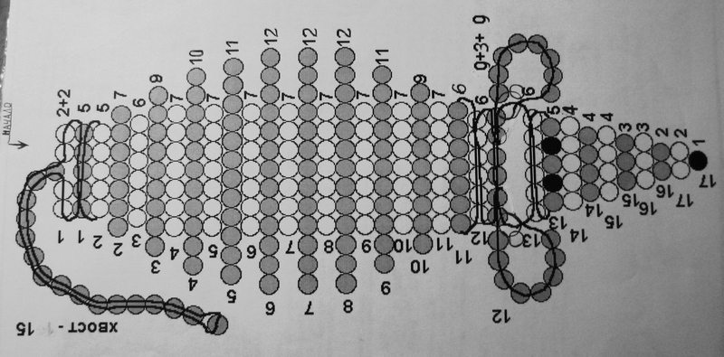 Схема плетения объемной мышки