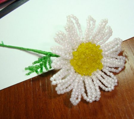 Плетение бисером ромашка схема фото