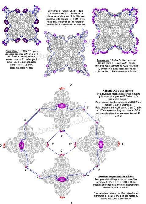схема бисероплетения подвески