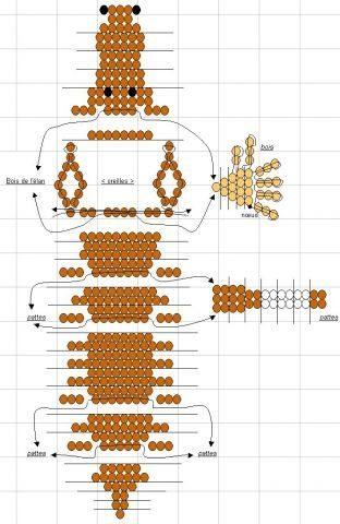 Схема плетения лося