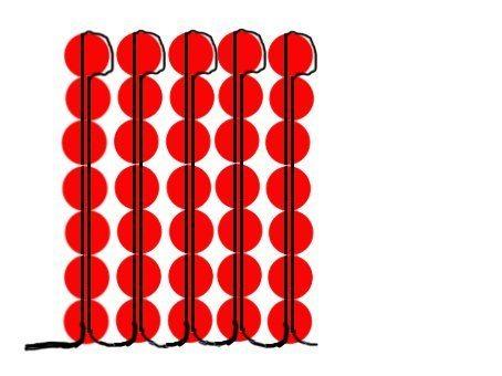 Схема тычинок для мака из бисера