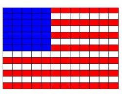 схема плетения: флаг