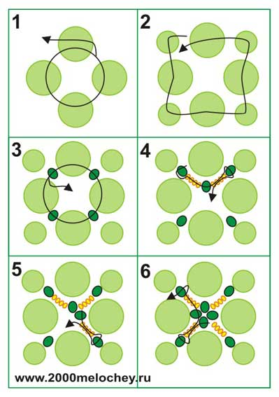 схема плетения черепахи из бисера