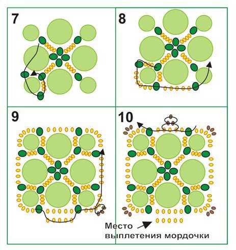 схема черепахи из бисера