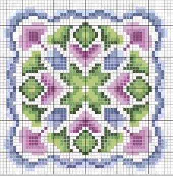 схема вышивки кулона из бисера