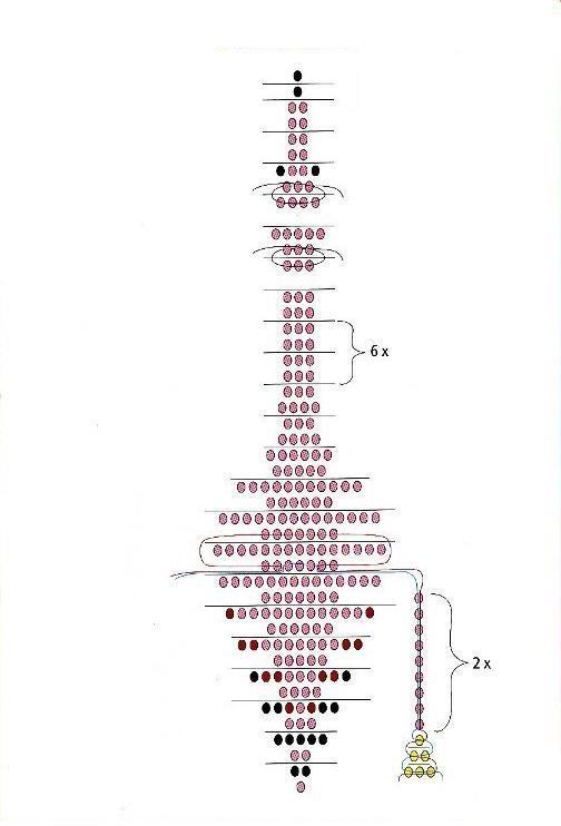 Объемный фламинго из бисера - схема