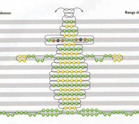 Царевна-лягушка из бисера