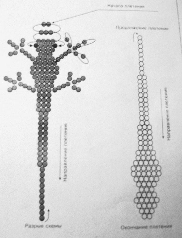 Плетение бисером крокодильчика схемы