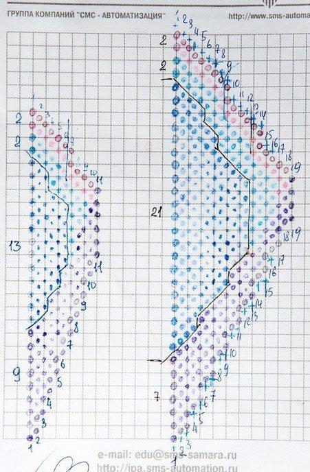 Схема плетения лилии из бисера