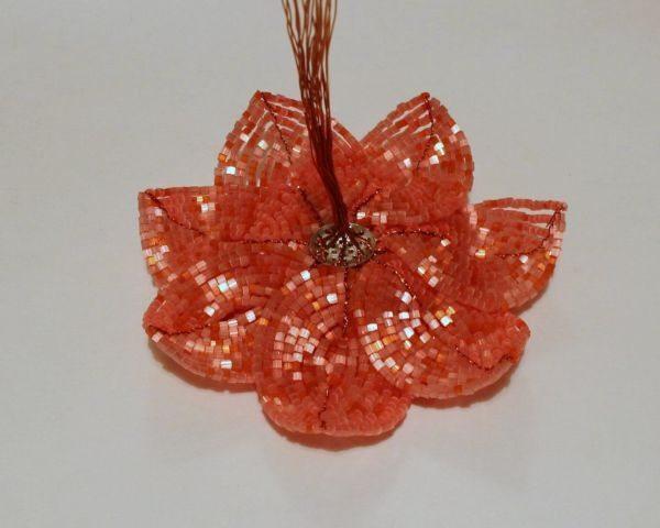 Цветок анемона из бисера