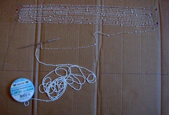 Процесс плетения воздушного колье-3