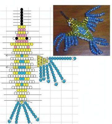 Схема колибри из бисера