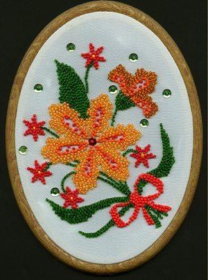Пано из цветов из бисера