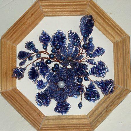 декоративное панно цветы из