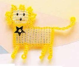 схема плетения знака зодиака - лев