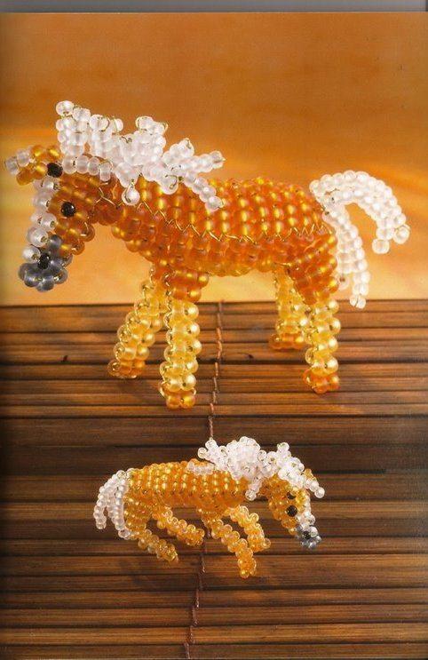 лошадь из бисера