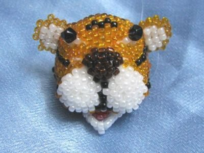 Голова тигра из бисера - схема плетения