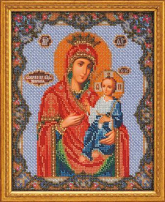 Иверская богородица ,Иконы,Радуга бисера (Кроше),Наборы для вышивки бисером,религия,вышивание бисером.
