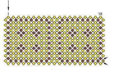 Пуговицы из бисера - схема плетения
