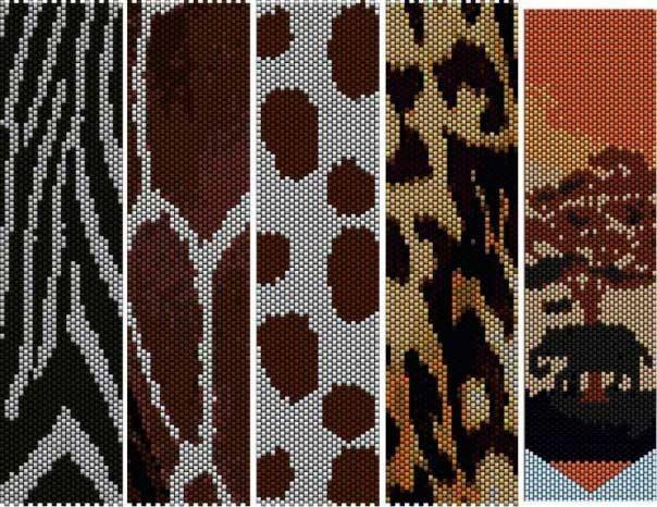 схема плетения мозаики